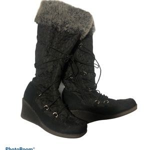 Winter boots with wedge heels